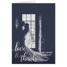 Script LOVE & THANKS wedding note card | PHOTO