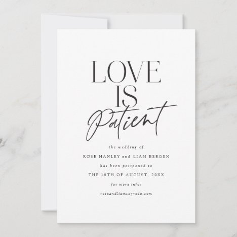 Script Love Wedding Postponed Change the Date Announcement
