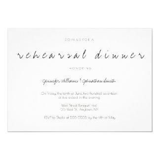 Script modern wedding rehearsal dinner invitations