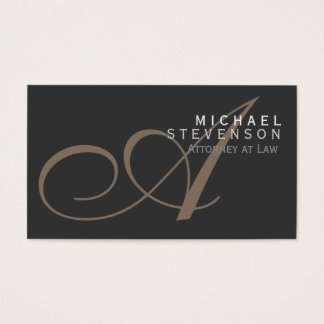 Script Monogram Attorney at Law Business Card