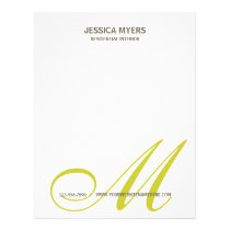 Script Monogram Business Letterhead
