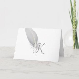 Script Monogram Note Cards- Chicken Scratch Note Card