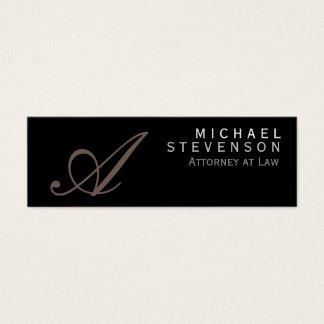 Script Monogram Slim Attorney at Law Business Card