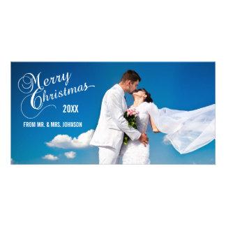 Script Newlyweds Holiday Photo Cards