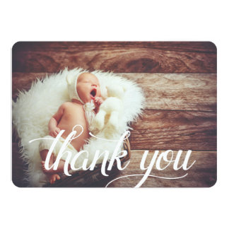 Script Overlay | Flat Thank You Photo Card