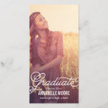 """Script Overlay Graduation Announcement<br><div class=""""desc"""">Elegant and full of charm,  these graduation invitations showcase your grad&#39;s sophisticated style as you share this important achievement with family and friends. More colors and matching items are available at berryberrysweet.com</div>"""