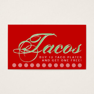 script TACOS customer loyalty card