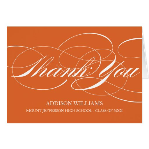 SCRIPT THANKS   GRADUATION THANK YOU CARD