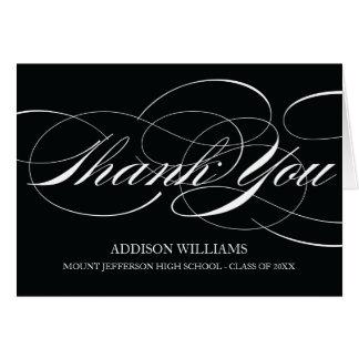 SCRIPT THANKS | GRADUATION THANK YOU CARD