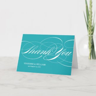 SCRIPT THANKS | WEDDING THANK YOU NOTE CARDS card