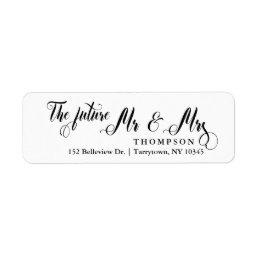 Script The Future Mr and Mrs Label