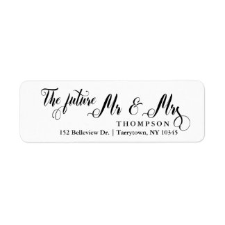 Script The Future Mr and Mrs Label