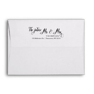 Script The Future Mrs and Mr 5x7 Envelope
