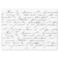 Script Tissue Paper