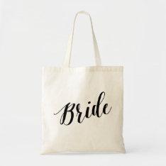 Script Tote | Bride at Zazzle