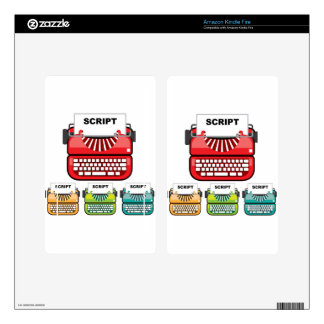 Script Typewriter Decals For Kindle Fire