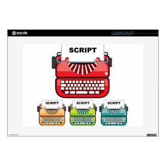 Script Typewriter Laptop Skin