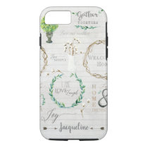 Script Typography Rustic Farm Farmhouse Watercolor iPhone 8/7 Case