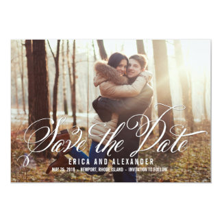Scripted Beauty Save The Date Card