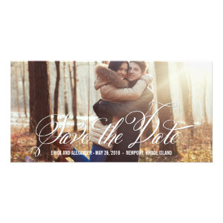 Scripted Beauty Save The Date Photo Cards
