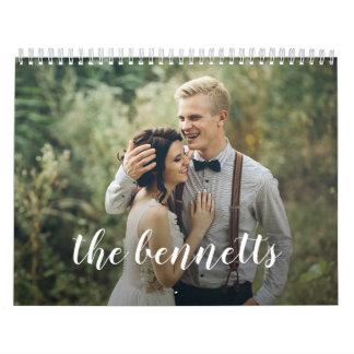 Scripted Elegance Custom Photo Calendar