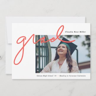 Scripted Grad Graduation Announcement