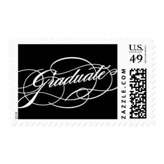 Scripted Graduate Postage Stamp