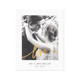 Scripted love-canvas canvas print