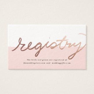Scripted Love Faux Foil Wedding registry card
