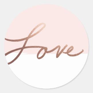 Scripted love faux foil wedding sticker