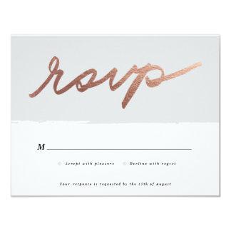 Scripted love | RSVP card