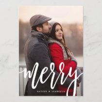 Scripted Merry Holiday Photo Card