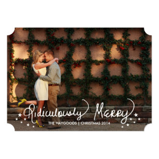 Scripted Ridiculously Merry Holiday Photo Card