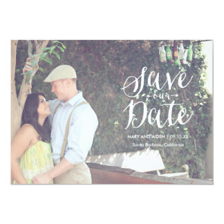 Scripted Save-The-Date Photo Card Announcement