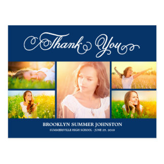 Scripted Thanks Graduation Thank You Multi Photos Post Card