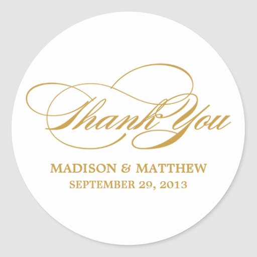 SCRIPTED | WEDDING THANK YOU FAVOR LABEL