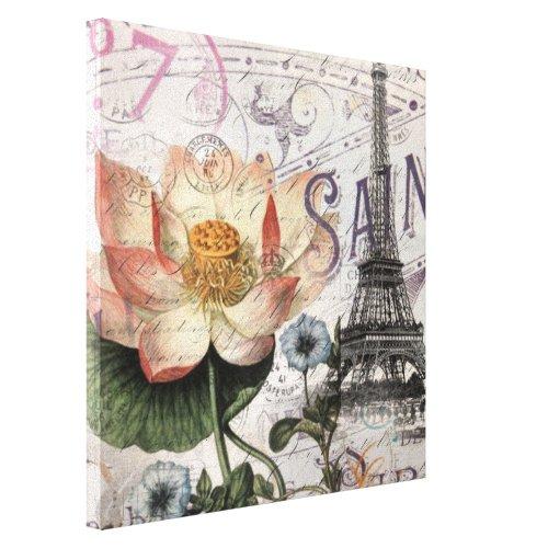 scripts french botanical lotus paris eiffel tower
