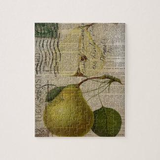 scripts la pera botánica del arte del vintage rompecabezas