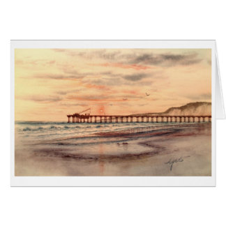 SCRIPT'S PIER SUNSET, LA JOLL, CALLIFORNIA CARD