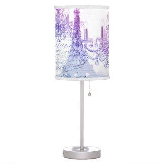 scripts purple chandelier paris eiffel tower desk lamp