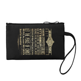 Scriptural Bible Verse - Colossians 3:12-13 Coin Purse