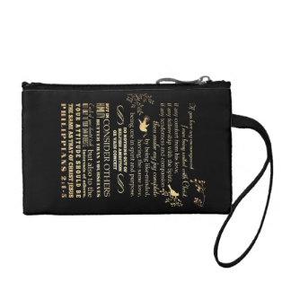 Scriptural Bible Verse - Philippians 2: 1-5 Coin Wallet