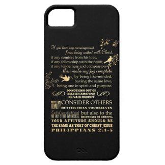 Scriptural Bible Verse - Philippians 2: 1-5 iPhone SE/5/5s Case