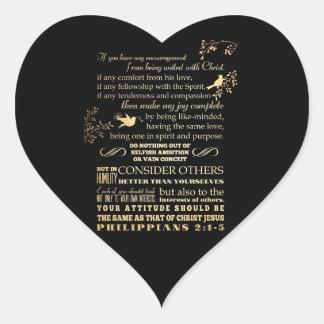 Scriptural Bible Verse - Philippians 2: 1-5 Stickers