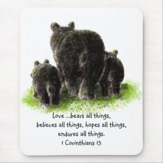 Scripture 1 Corinthians 13:4 Love is Mouse Pad