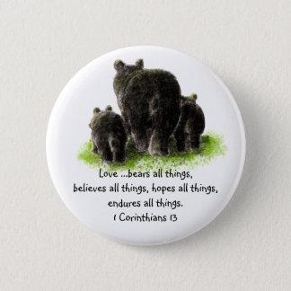 Scripture 1 Corinthians 13:4 Love is Pinback Button
