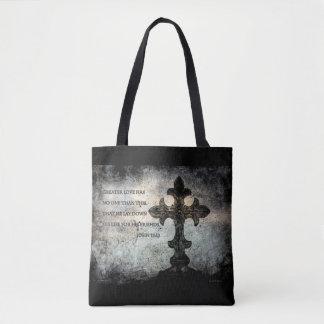 Scripture All-Over-Print Cross Body Bag