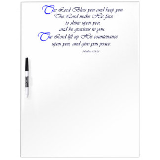 Scripture Blessing Dry Erase Board