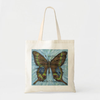 Scripture Butterfly Tote Bag
