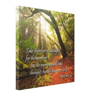 Scripture Canvas: the future works itself out Canvas Prints